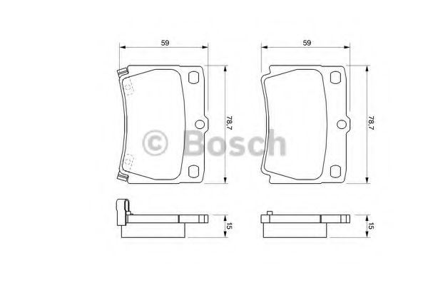 Торм колодки дисковые (пр-во Bosch)                                                                  REMSA арт. 0986424711