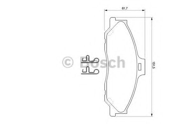 Комплект тормозных колодок, дисковый тормоз  арт. 0986424720