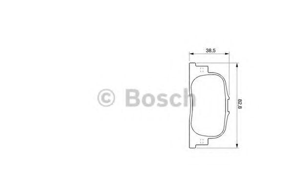 Торм колодки дисковые (пр-во Bosch)                                                                  BOSCH арт. 0986424730