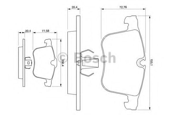Комплект тормозных колодок, дисковый тормоз LPR арт. 0986424743