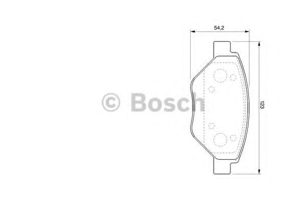 Торм колодки дисковые (пр-во Bosch)                                                                  REMSA арт. 0986424774