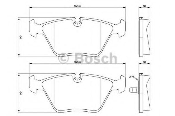 Комплект тормозных колодок, дисковый тормоз  арт. 0986424828