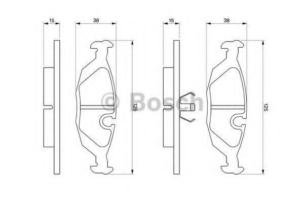 Торм колодки дисковые (пр-во Bosch)                                                                   арт. 0986460996
