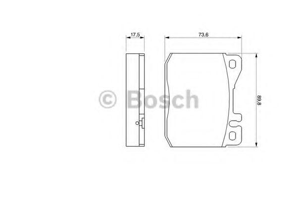 Торм колодки дисковые (пр-во Bosch)                                                                  TRW арт. 0986463412