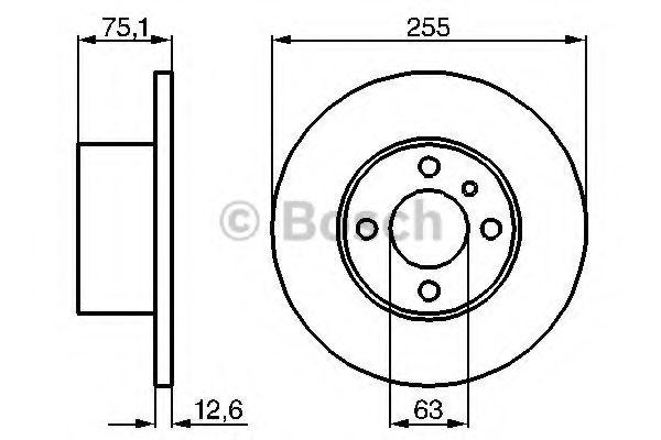 Тормозной диск BOSCH арт. 0986478032