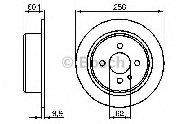 Гальмівний диск BMW E30 R BOSCH арт. 0986478034