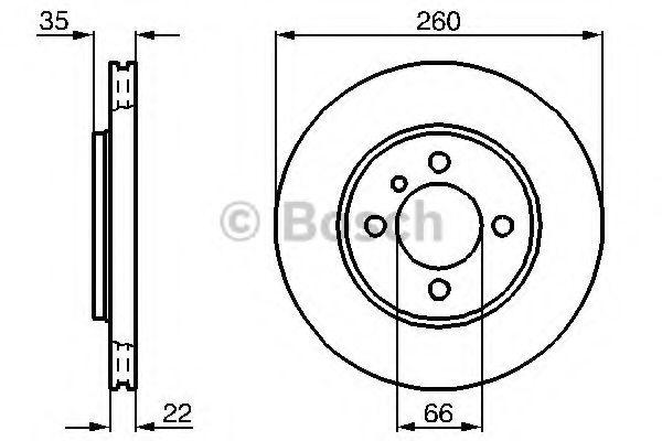 Тормозной диск BOSCH арт. 0986478036