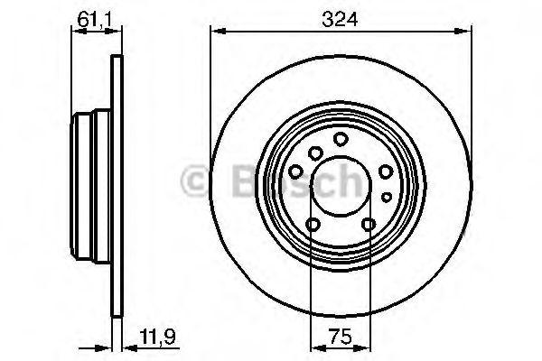 Тормозной диск Bosch  арт. 0986478095