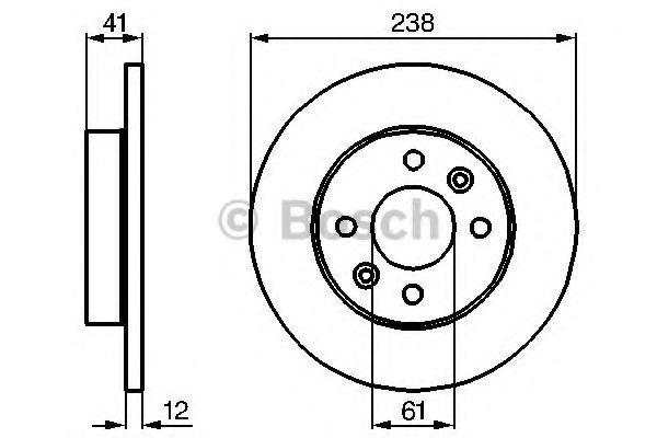Тормозной диск (пр-во Bosch)                                                                         BOSCH 0986478105