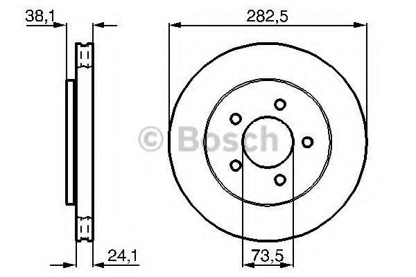 BOSCH  Тормозной диск передн. VOYAGER III /-ABS/ BOSCH 0986478109