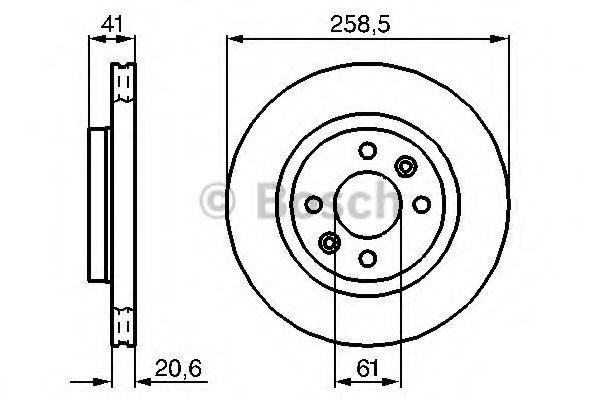 Тормозной диск (пр-во Bosch)                                                                         BOSCH 0986478124