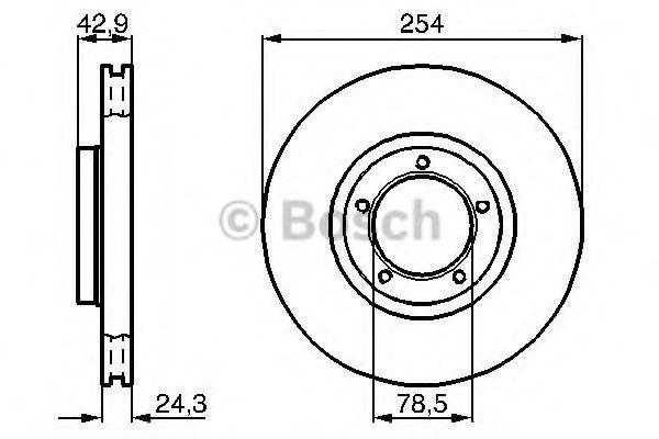 Тормозной диск (пр-во Bosch)                                                                         BOSCH 0986478160