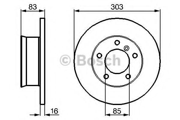 BOSCH DB Тормозной диск G-Class W460/461/463 2,3-3,0 (303*16) BOSCH 0986478189