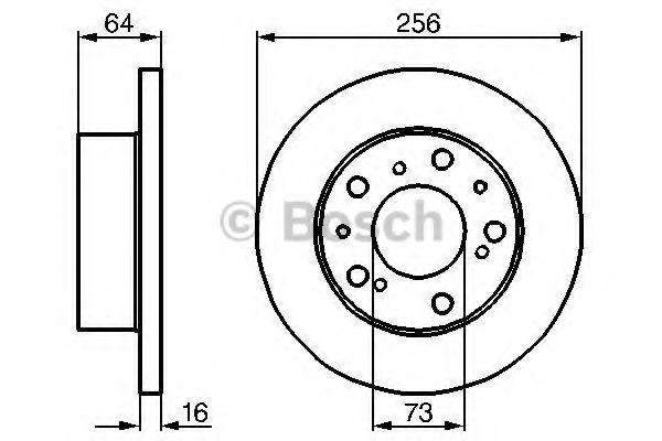 Тормозной диск  арт. 0986478200