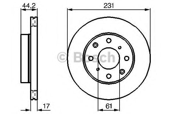 Тормозной диск  арт. 0986478203