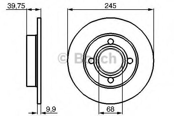 BOSCH AUDI Диск тормозной задний 80 quattro BOSCH 0986478216