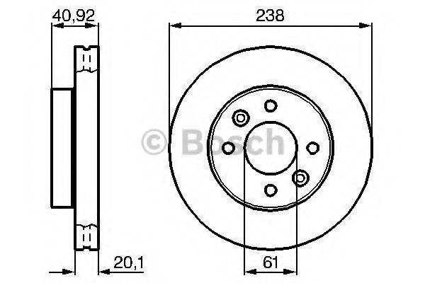 Тормозной диск (пр-во Bosch)                                                                         BOSCH 0986478276