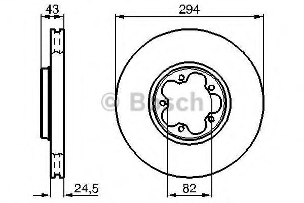 Тормозной диск (пр-во Bosch)                                                                         BOSCH 0986478303