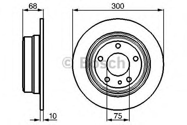 Тормозной диск Bosch  арт. 0986478323