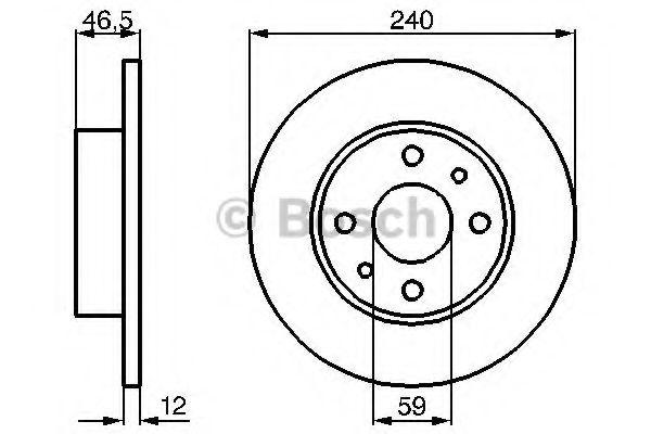 Тормозной диск BOSCH 0986478353