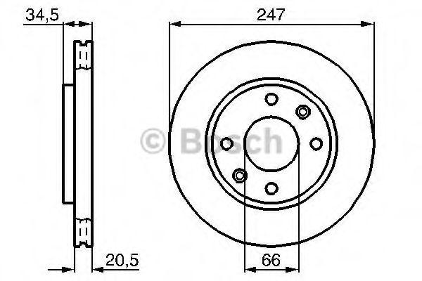 Тормозной диск (пр-во Bosch)                                                                         BOSCH 0986478370