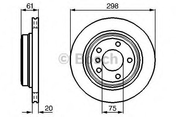 Тормозной диск (пр-во Bosch)                                                                         BOSCH 0986478426