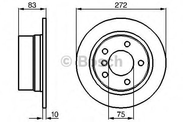 Тормозной диск  арт. 0986478439