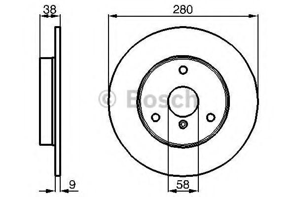 BOSCH  тормозной диск пер. SMART Fortwo 07- BOSCH 0986478479