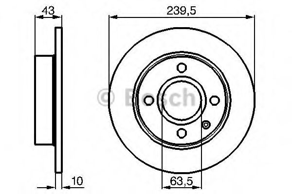 Тормозной диск Bosch  арт. 0986478501
