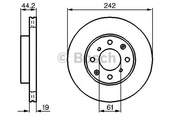 Тормозной диск  арт. 0986478503
