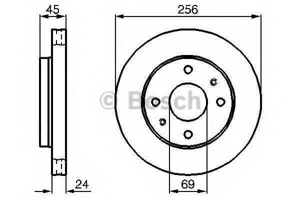 Тормозной диск (пр-во Bosch)                                                                         BOSCH 0986478531