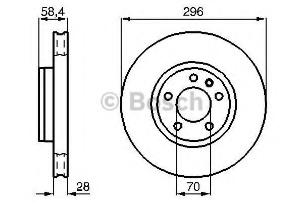 Тормозной диск (пр-во Bosch)                                                                         BOSCH 0986478593