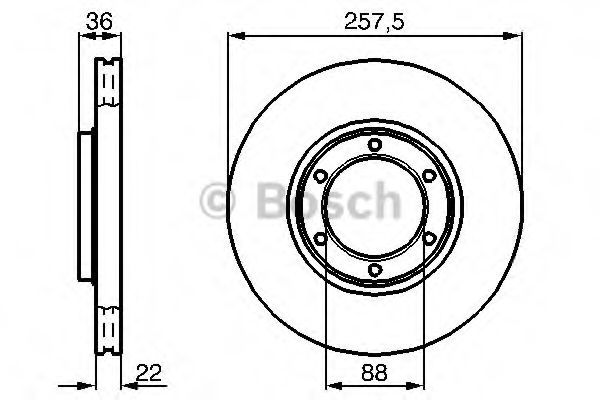 Тормозной диск  арт. 0986478596