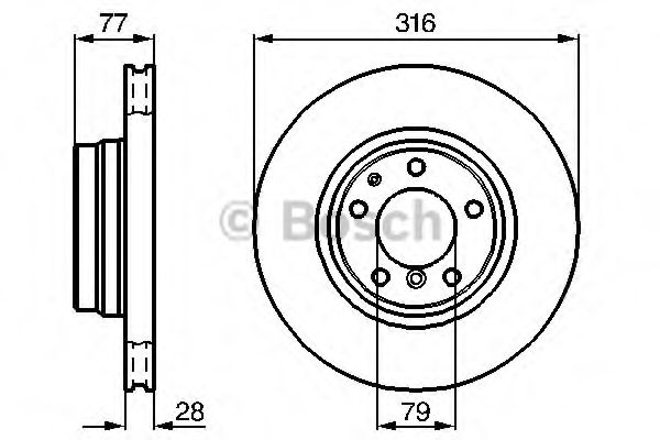 Тормозной диск (пр-во Bosch)                                                                          арт. 0986478622