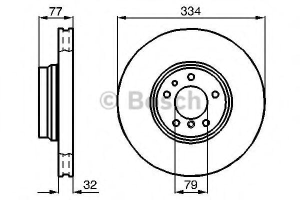 Тормозной диск Bosch  арт. 0986478623