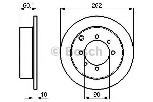 Тормозной диск (пр-во Bosch)                                                                          арт. 0986478655