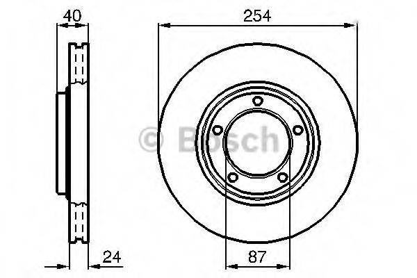 Тормозной диск  арт. 0986478663