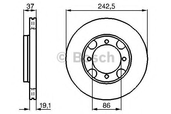 Тормозной диск  арт. 0986478665