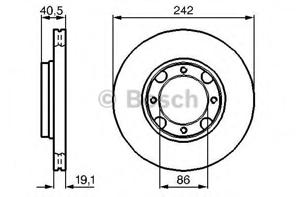 Тормозной диск  арт. 0986478674