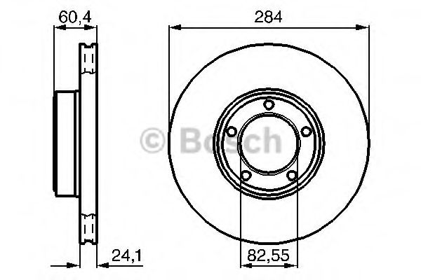 Тормозной диск  арт. 0986478686