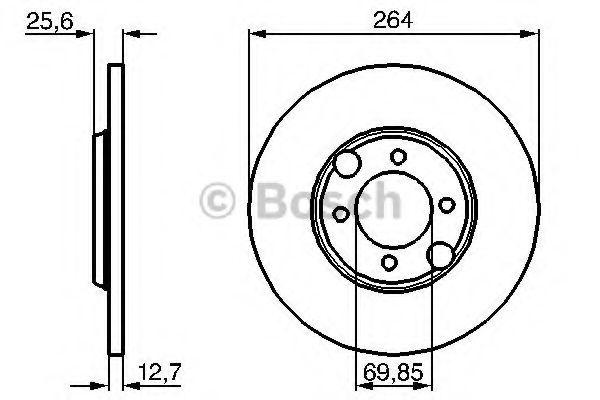 Тормозной диск  арт. 0986478689