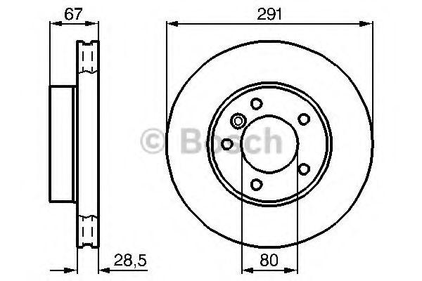 Тормозной диск  арт. 0986478691