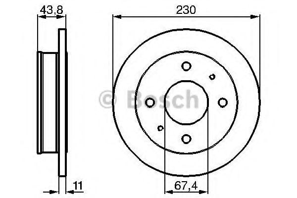 Тормозной диск  арт. 0986478727