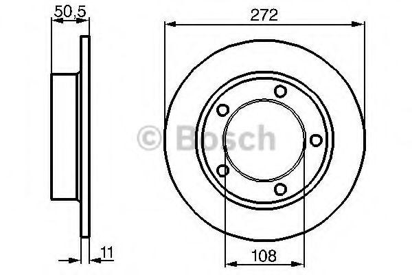 Тормозной диск Lada  арт. 0986478746
