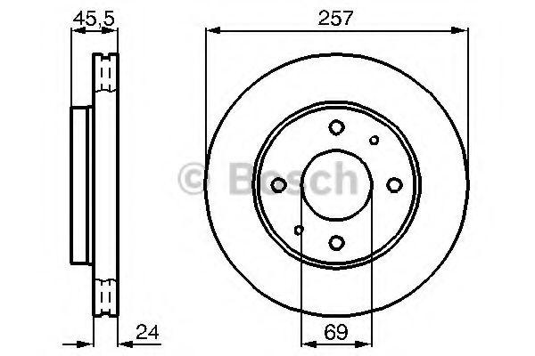 Тормозной диск  арт. 0986478774
