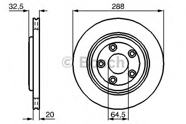 Тормозной диск  арт. 0986478777