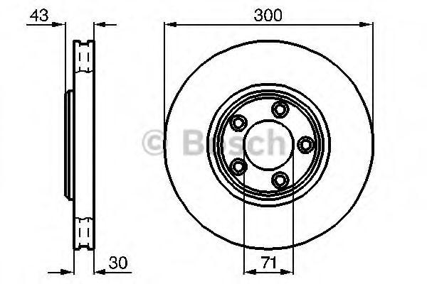 Тормозной диск  арт. 0986478778