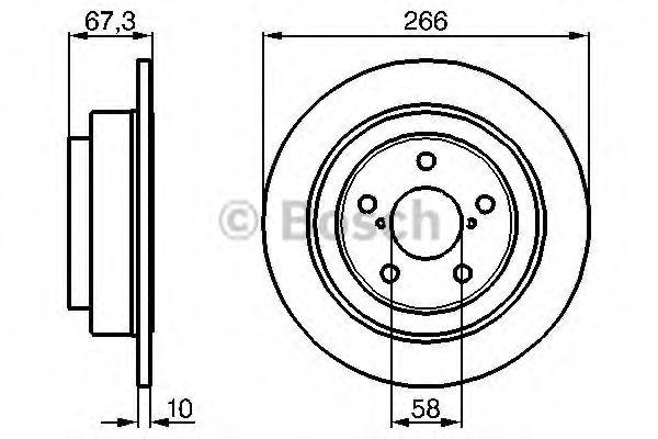 Тормозной диск (пр-во Bosch)                                                                         BOSCH 0986478799