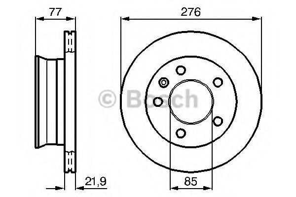 BOSCH ,Диск тормозной перед. (вентил.) DB Sprinter, VW LT 96- (276*22) BOSCH 0986478849