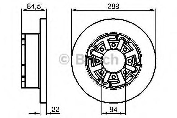 Тормозной диск (пр-во Bosch)                                                                         BOSCH 0986478886
